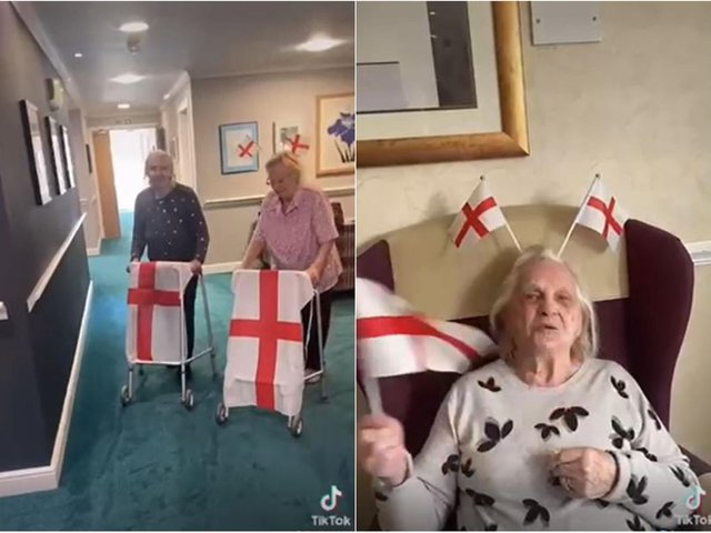 Residents at Cookridge Court care home cheer on England in this heartwarming video