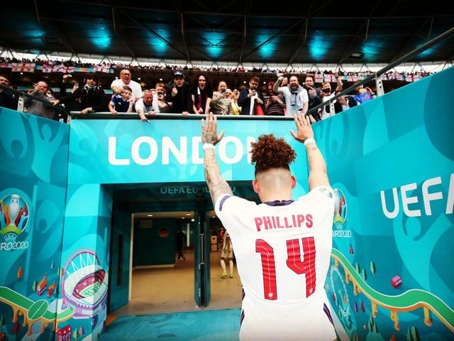 Kalvin Phillips applauded at Wembley Stadium.