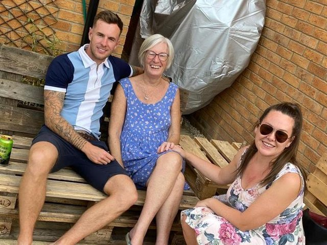 Ryan Hearn with his mum Rosemary.