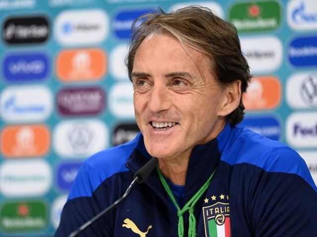 Italy head coach Roberto Mancini. Pic: Getty