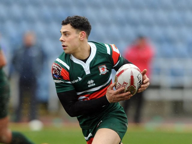 Joel Gibson, pictured during his time at Hunslet, was man of the match for Thornhill Trojans. Picture by Tony Johnson.