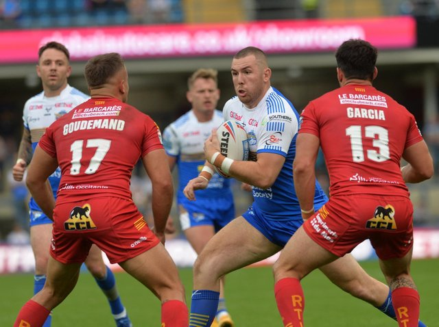 Cameron Smith made his Rhinos return against Catalans after three months on the sidelines. Picture by Jonathan Gawthorpe.