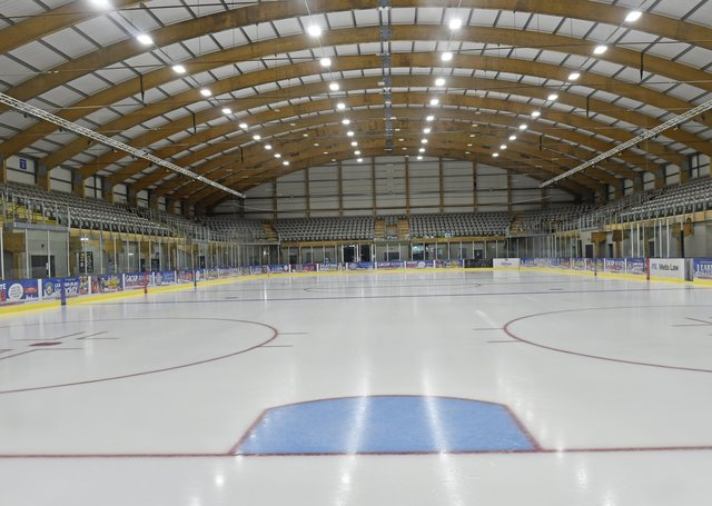 The Planet Ice Elland Road ice rink, where Leeds Knights will play their NIHL National home games during the 2021-22 season. Picture: Steve Riding.