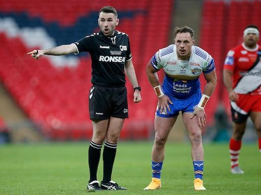 Liam Moore will referee his second successive Challenge Cup final. Picture by Ed Sykes/SWpix.com.