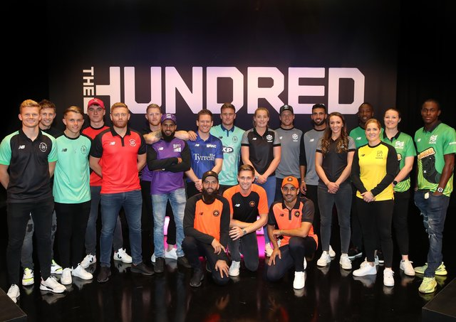 Players for the eight teams in The Hundred line up following The Hundred Draft. WIn tickets to see them at Headingley (Picture Christopher Lee/Getty Images for ECB)