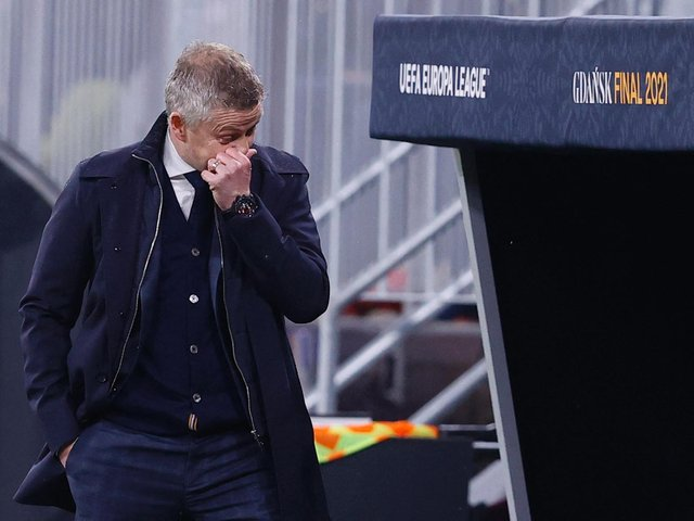 SETBACK: For Manchester United boss Ole Gunnar Solskjaer, above. Photo by KACPER PEMPEL/POOL/AFP via Getty Images.