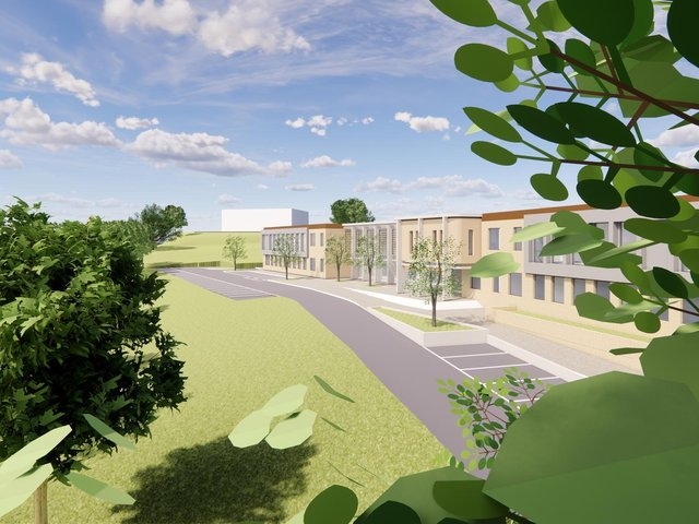 An artist's impression of the proposed new  sixth form college in Pudsey.