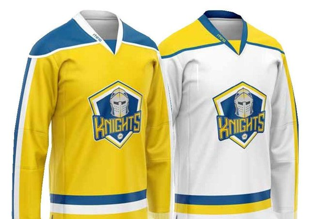 Leeds Knights' first-ever team jerseys - on sale ahead of the 2021-22 NIHL National season.