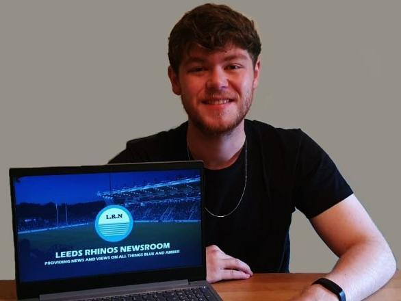 Leeds Trinity University student Sam Charlton won the award for his Leeds Rhinos website.