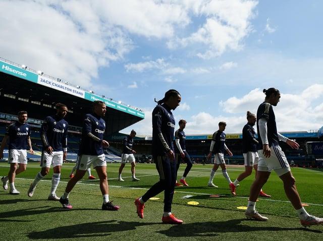 Leeds United warm up at Elland Road last season. Pic: Getty