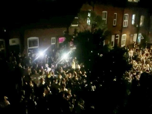 Neighbours living in Hyde Park were kept awake by this huge street rave attended by a bumper crowd of revellers last month