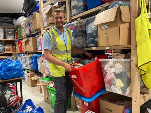 Will Munton, charity manager at Leeds Baby Bank.