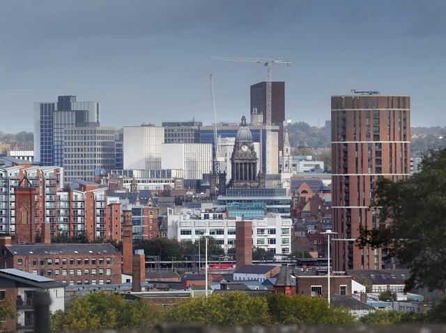 The Leeds city centre skyline