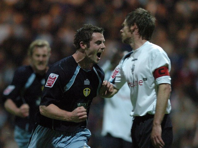 Frazer Richardson celebrates scoring against Preston North End at Deepdale during the play-off semi-final second leg in May 2006. PIC: Gerard Binks