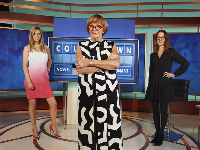 Undated handout photo issued by Channel 4 of the new all-female line up for Countdown of (left to right) Rachel Riley, Anne Robinson, and Susie Dent. Anne Robinson takes over as host from Monday June 28, replacing Nick Hewer. Issue date: Tuesday June 15, 2021 (PA).