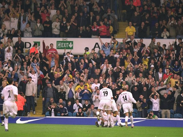 Enjoy these photo memories from Leeds United's 4-3 Premier League win against Tottenham Hotspur at Elland Road in September 2000. PIC: Getty