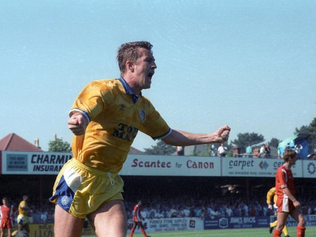Enjoy these photo memories from Leeds United's promotion victory at Bournemouth in May 1990.