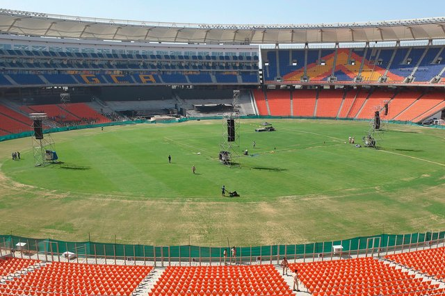 The Motera ground was officially renamed the Narendra Modi Stadium at the beginning of the third test, after India's current prime minister who is from the same Gujarat state. It will be the setting for the fourth Test between India vs England. (Pic: Getty Images)