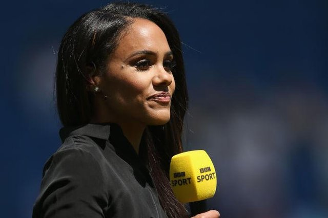 Presenter and ex Arsenal Ladies player Alex Scott has been presenting sport events and talk shows for the BBC and Sky since her retirement from the sport in 2017 (Picture: Getty)
