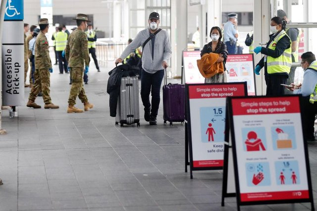 All international arrivals into England will be placed into mandatory quarantine in hotels for 10 days, similar to measures already in place in Australia (Picture: Brendon Thorne/Getty Images)