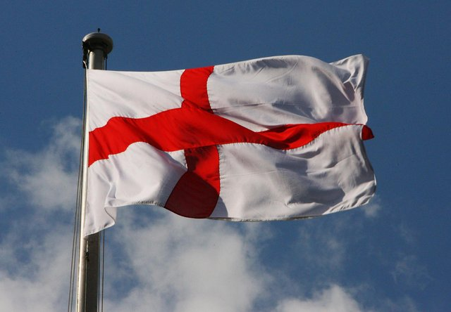 The St George flag is often flown from civic buildings on the national day. (Daniel Berehulak/Getty Images)