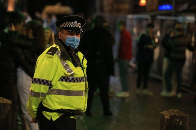 Project Vigilant could involve police officers seeking to 'actively identify predatory and suspicious offenders in the night time economy' (Photo: LINDSEY PARNABY/AFP via Getty Images)