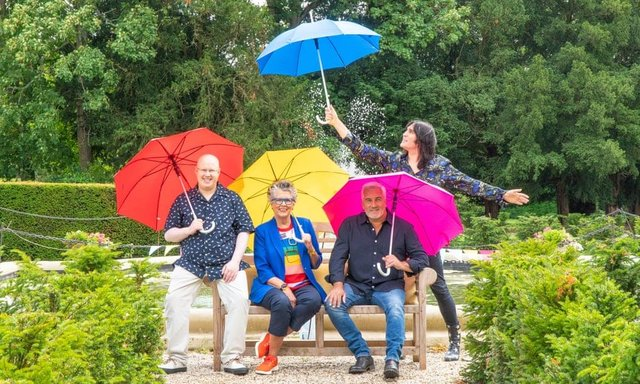 The bakers will be judged by Paul Hollywood and Prue Leith, with returning host Noel Fielding, and newbie Matt Lucas replacing Sandi Toksvig (Photo: Mark Bourdillon/Love Productions) Mark Bourdillon/Love Productions