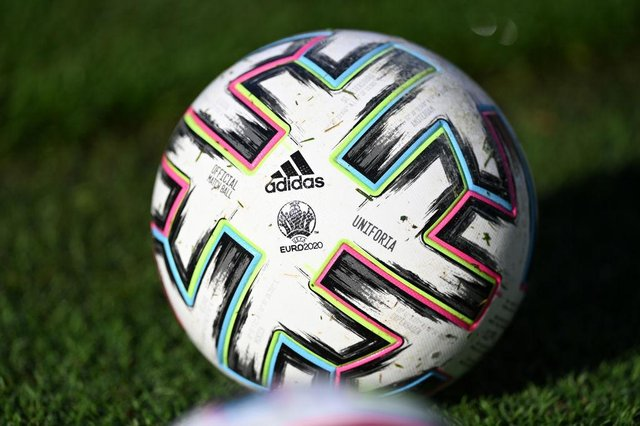 Euro 2020 match ball. (Photo by Stuart Franklin/Getty Images)