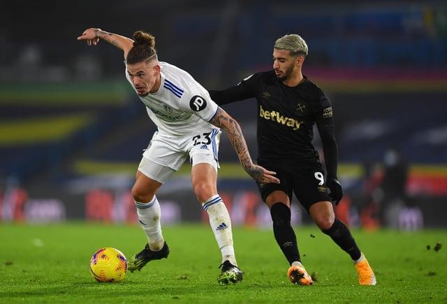 Leeds United midfielder Kalvin Phillips. (Photo by Gareth Copley/Getty Images)