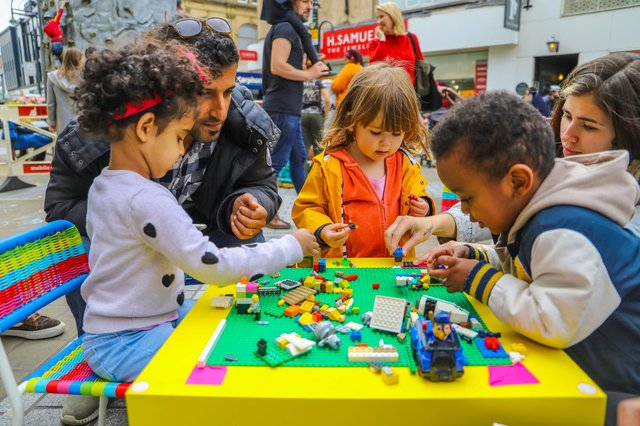 Emma Bearman's social enterprise, Playful Anywhere, finds creative ways to bring play to the streets of Leeds.
