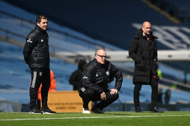Marcelo Bielsa, Manager of Leeds United.  (Photo by Michael Regan/Getty Images)