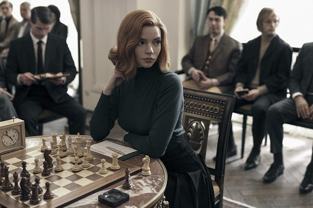 The Queen's Gambit centres around the life of genius chess player Elizabeth Harmon (Netflix)