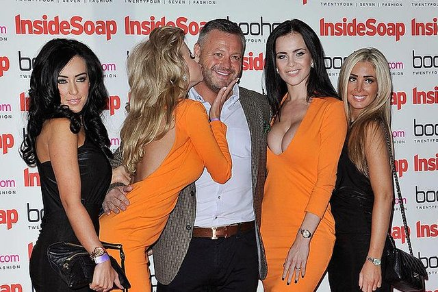Mick Norcross and The SugarHut Honeys in September 2012 at the InsideSoap Awards  (Picture: Cattermole/Getty Images)