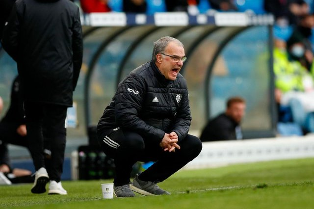 Marcelo Bielsa, Manager of Leeds United. (Photo by Lynne Cameron - Pool/Getty Images)