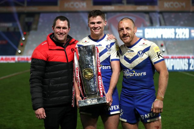 Jack Welsby holds the 2020 Super League Grand Final trophy. (Pic: Getty)