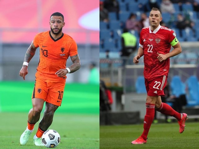 Memphis Depay and Artem Dzyuba have both been in exceptional form for their countries (Getty Images)