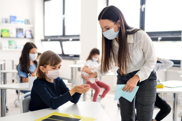 The risk of Covid infection for teachers and school staff has been revealed ahead of the return of all pupils to the classroom on 8 March. (Pic: Shutterstock)