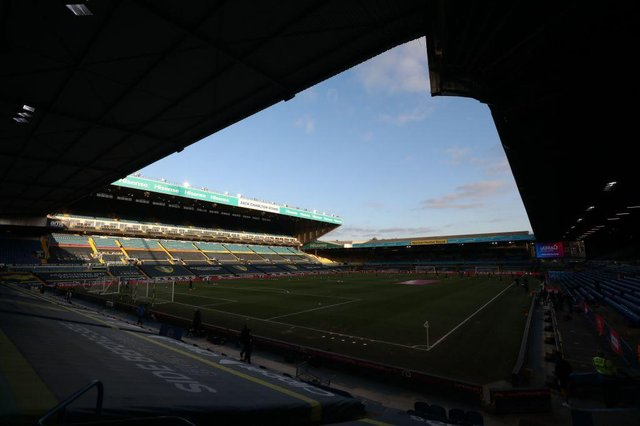 Elland Road, the home of Leeds United Football Club. (Photo by NAOMI BAKER/POOL/AFP via Getty Images)