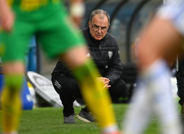 Leeds manager Marcelo Bielsa. (Photo by Stu Forster/Getty Images)