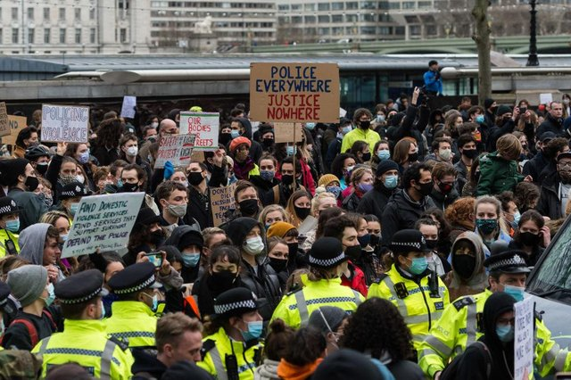 Protests were held against increased police powers on March 14 (Getty Images)