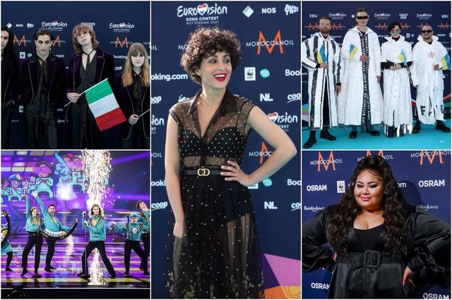 (Clockwise from top left) Current favourites to win this year's competition include Italy, France, Malta, Ukraine, and Iceland (Photos: Getty Images)