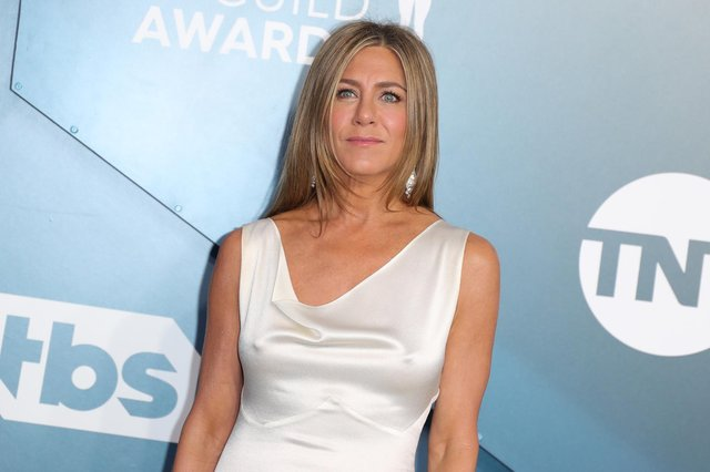 Jennifer Aniston (pictured) starred alongside Courteney Cox, Matthew Perry, Lisa Kudrow, David Schwimmer and Matt LeBlanc in the US sitcom Friends. (Pic: Getty Images)
