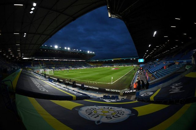 Elland Road, the home of Leeds United Football Club. (Photo by LAURENCE GRIFFITHS/POOL/AFP via Getty Images)