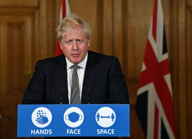Prime Minister Boris Johnson will announce the Government's next steps virtually from his test and trace-ordered quarantine (Photo: Alberto Pezzali-Pool/Getty Images)