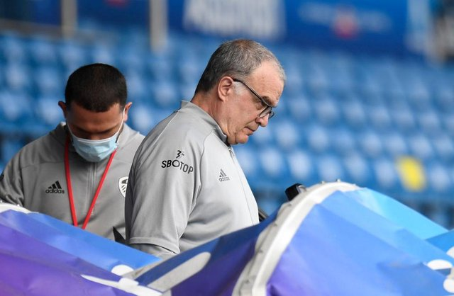 Marcelo Bielsa, Manager of Leeds United. (Photo by Peter Powell - Pool/Getty Images)