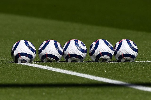 Premier League match ball. (Photo by Facundo Arrizabalaga - Pool/Getty Images)